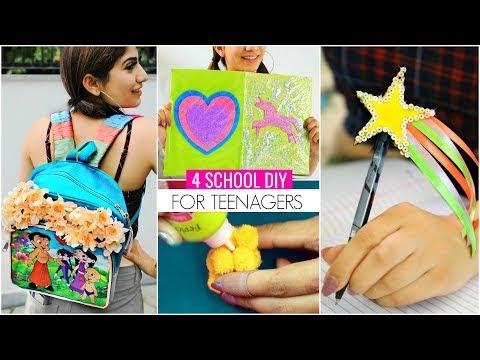 4 BACK To SCHOOL DIY For TEENAGERS...   #SchoolSupplies #Craft #Anaysa #DIYQueen