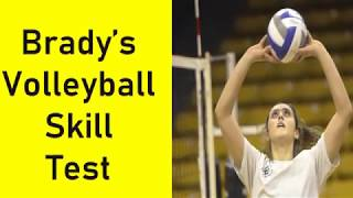 Brady's Volleyball Skill test|Physical Education | in Hindi and English
