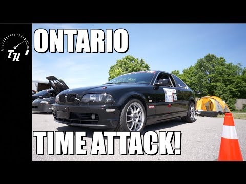 "E46 BMW ""ROLL CAGE COMPONENTS"" ROLL BAR INSTALL Track Car At Ontario Time Attack! //"