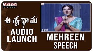 Mehreen Speech @ Aswathama Audio Launch | Naga Shaurya