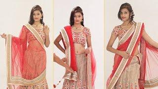 How To Wear Lehenga Saree To Look Slim Step By Step – 5 Gorgeous Ways To Drape Lehenga Dupatta