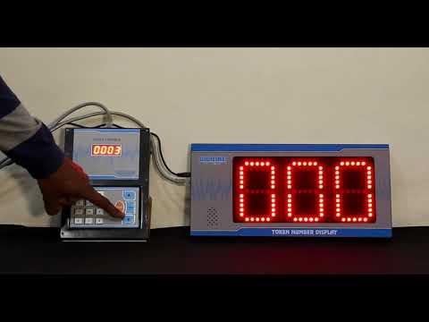 Digital Token Display System