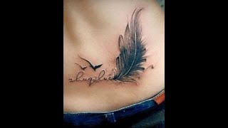 Top 40 Best Small Feather Tattoo Designs For Girls Women And Men   FEATHER Tattoo   Trending Spot