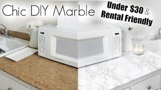 DIY Marble   Apartment Kitchen Makeover