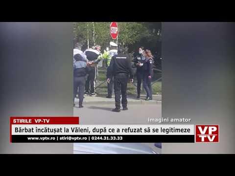 Bărbat încătușat la Văleni, după ce a refuzat să se legitimeze