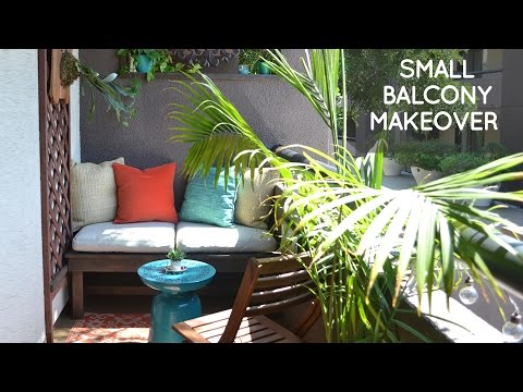 Diy small rental balcony makeover on a budget amy luebbert for Small balcony ideas on a budget