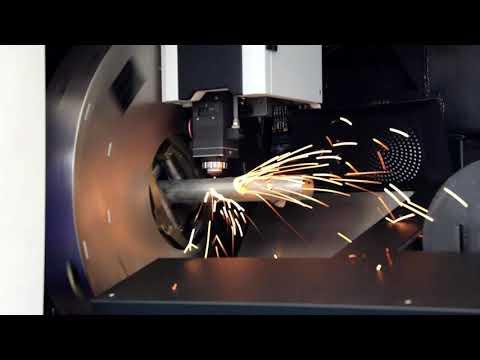 Wycinanie rur laserem fibrowym model WS-6020T | Cutting the pipe by fiber laser model WS-6020T - zdjęcie