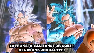 NEW 29 TRANSFORMATIONS FOR GOKU [ALL FORMS + WHAT IF?] Dragon Ball Xenoverse 2 Mods