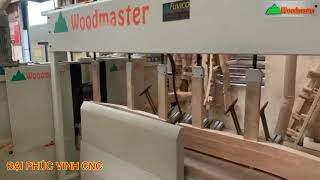 MÁY ĐÁNH TUBI CHÉP HÌNH CNC CHÀ NHÁM ( Máy Phay Toupi cnc 4 Trục Woodmaster)