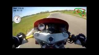 Vidéo Roulage La Bresse 12 et 13 Avril 2015 Honda VTR en 1'41''61 et CBR en 1'38''13 par Jeanmanchesec