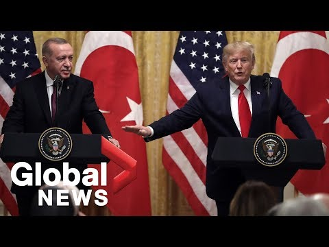 Trump holds press conference with Erdogan on day impeachment hearings begin
