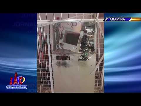 Bandidos explodem caixas eletrônicos em agência de Aramina - Jornal da Clube (16/02/2018)