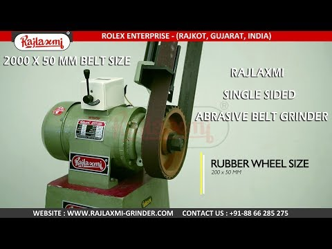 Rajlaxmi 3 HP Single Side Lancer Belt Grinding Machine