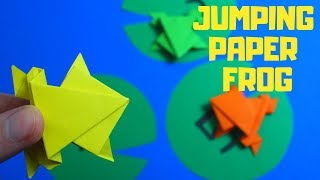 Origami Jumping Paper Frog | Fun Paper Crafts For Kids