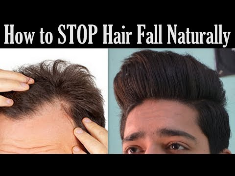 How to STOP Hair Fall Naturally | Grow Hair Faster (Men & Women)