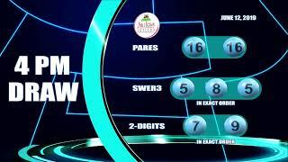[LIVE] PCSO 4:00PM Lotto Draw   June 12, 2019