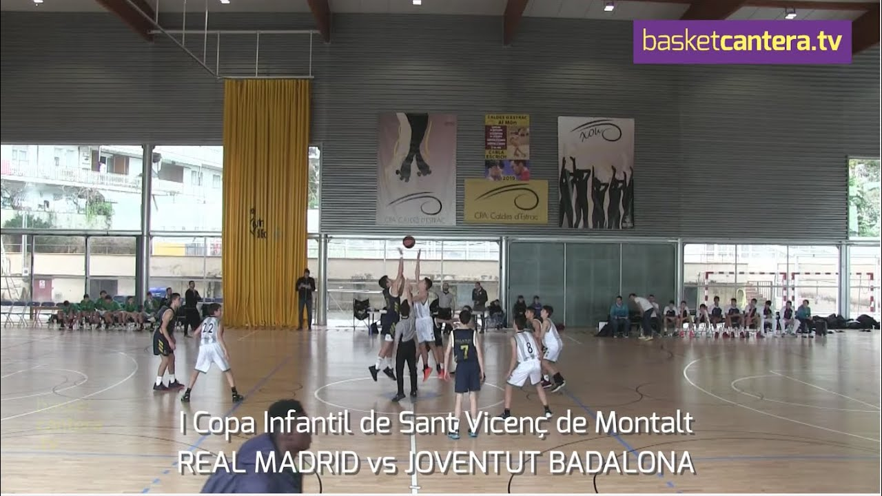 U14M - REAL MADRID vs JOVENTUT BADALONA.- I Copa Infantil Sant Vicenç de Montalt