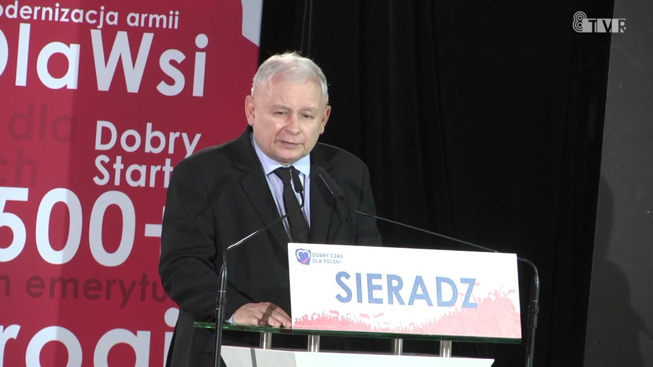 Jarosław Kaczyński w Sieradzu