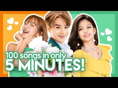 My TOP 100 K-POP SONGS in only 5 MINUTES!