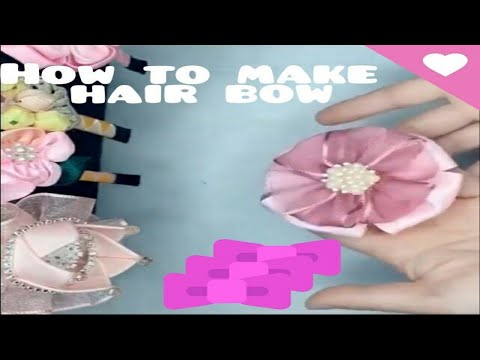 How to make ribbon Hairclip easy // DIY Hairbow making with clip