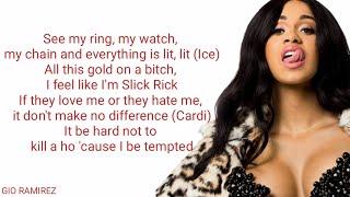 DJ Khaled Ft. Cardi B & 21 Savage   Wish Wish (Lyric Video)