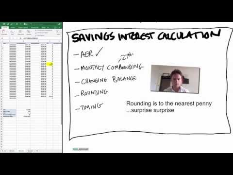 Video ep2: how is savings interest calculated - live example and Excel link