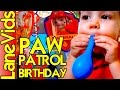 PAW PATROL BIRTHDAY PARTY DECORATIONS | 4 YEAR OLD PAW PATROL PARTY | PAW PATROL IDEAS | LaneVids