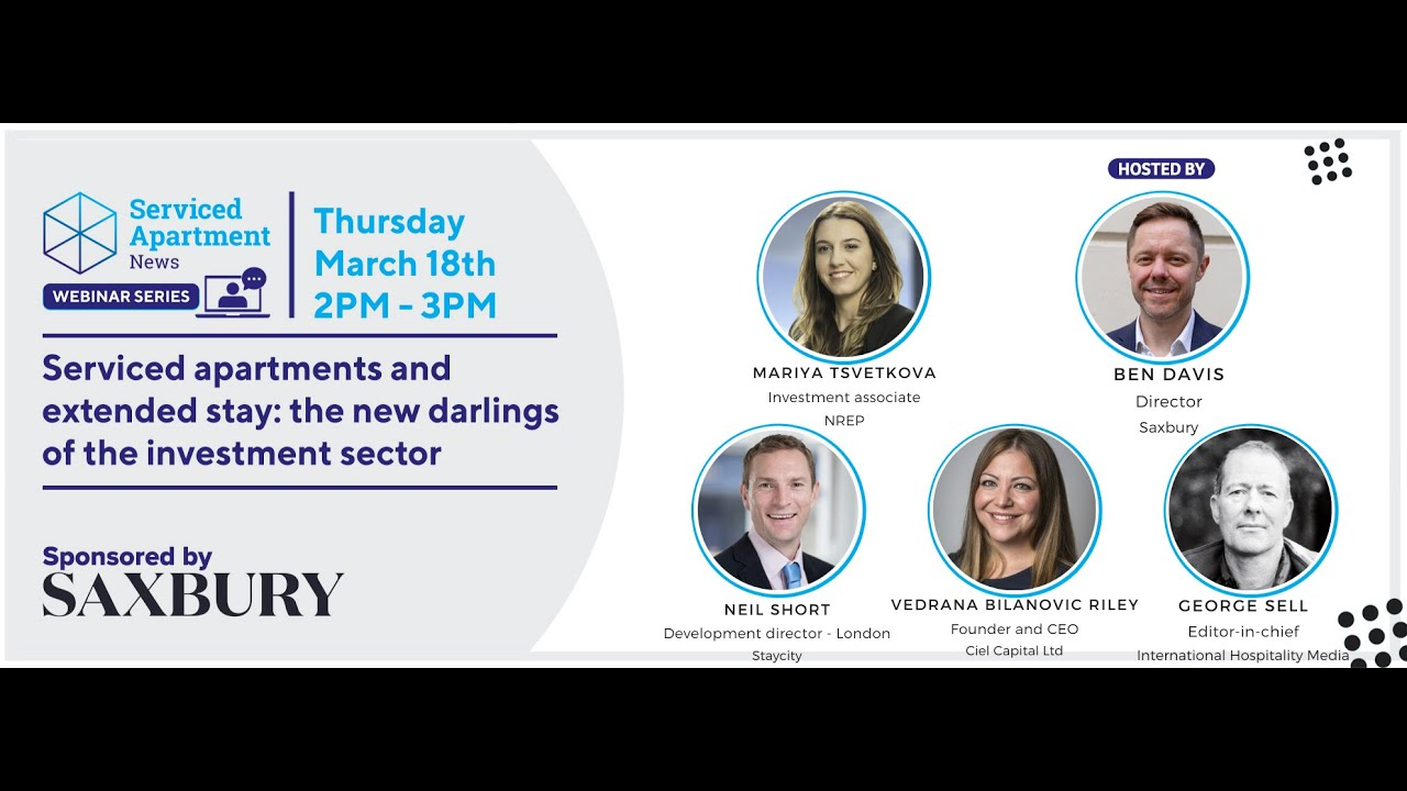 SAN webinar: Serviced apartments and extended stay: the new darlings of the investment sector