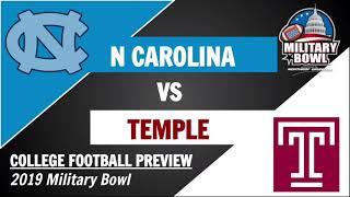 North Carolina vs Temple Preview and Predictions - 2019 Military Bowl
