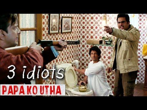 Papa Ko Utha (पापा को उठा) - 3 Idiots   Sharman Joshi, R Madhavan, Javed Jaffrey