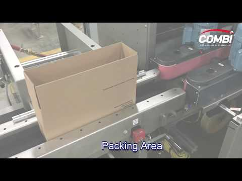 Formadora de cajas 2-EZ SB para cajas angostas tipo FOL con estación de empaque