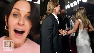 Courteney Cox Reacts To Brad Pitt-Jennifer Aniston Reunion At SAG Awards