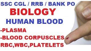 Blood | Biology Gk | Plasma,RBC,WBC,Blood Platelets