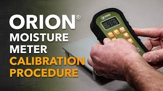 Orion Moisture Meter Calibration Procedure