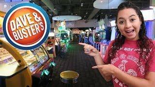 Having a blast at Dave & Buster's arcade!!