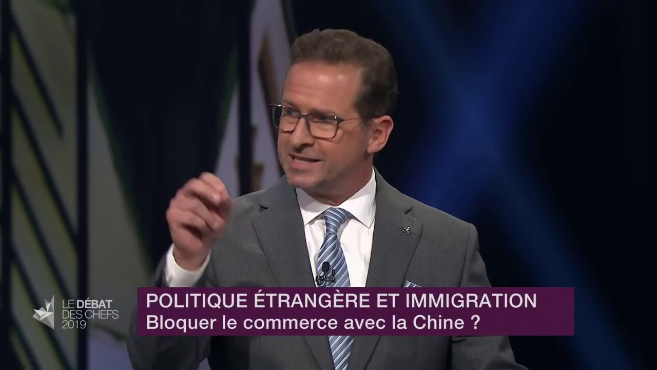 Yves-François Blanchet answers a question about relations with China
