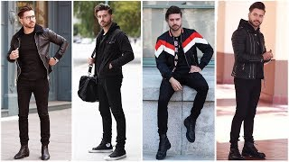 4 EASY OUTFITS FOR MEN (All Black) | Mens Outfit Inspiration Lookbook 2018 | ALEX COSTA