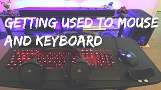 Getting Used To Mouse And Keyboard!