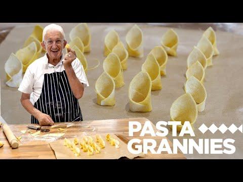 84yr old Luigi shares his vegan pasta with caponata ! | Pasta Grannies
