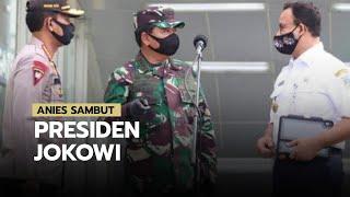 Anies Baswedan Sambut Presiden Jokowi yang Tinjau Stasiun MRT Bundaran HI