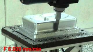 CMS Ares: producing a highly finished Aluminum mold surface using 5 Axes