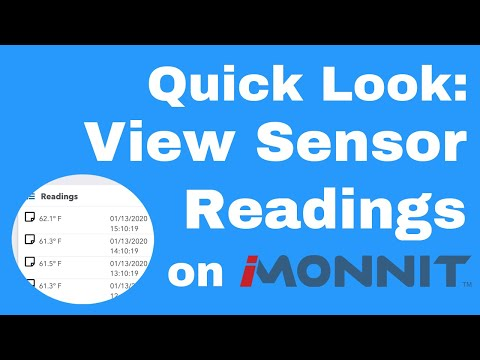 how to view sensor readings on iMonnit