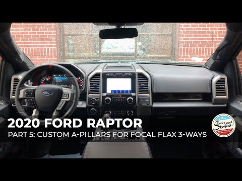 2015+ Ford F-Series & Expedition Max Custom Made 3-Way Component Speaker A-Pillars