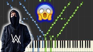 Faded - Alan Walker [INSANE Piano Tutorial] (Synthesia/Sheet Music)