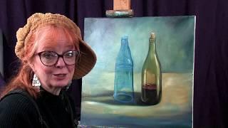 Art Instruction Painting Bottles and Ellipses