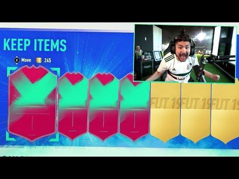 I PACKED 4 FUT BIRTHDAY PLAYERS!! 100 PLAYER PICK PACKS!! FIFA 19