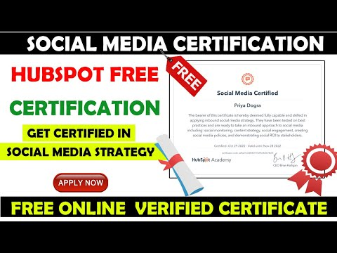 HubSpot Social Media Marketing Certification | Free Online Social ...