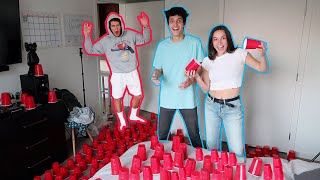 FILLING BENS APARTMENT WITH RED SOLO CUPS (pranking my friends)