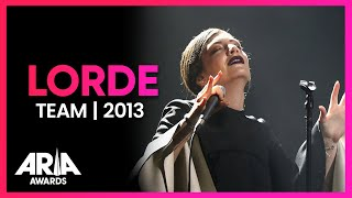 Lorde: Team | 2013 ARIA Awards