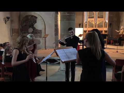 J.B. de Boismortier - Concerto no.2 for five flutes,op.15 mvmt 3